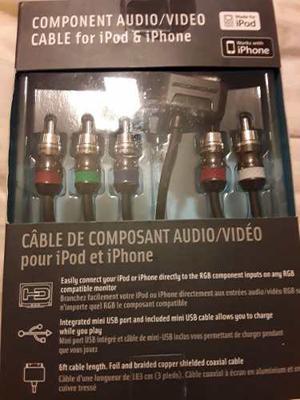 Cable Composite Audio Video Para Ipod, Iphone Ipad Apple