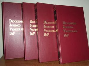Diccionario Jurídico Venezolano Df. 4 Tomos