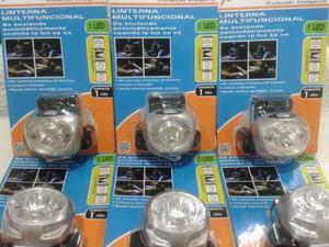 Linterna Led D/cabeza Recargable Avtek Inclinable 40 Lumens
