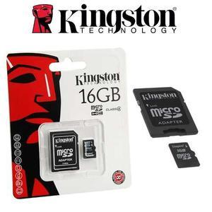 Memoria Kingston 16gb Micro Sd Adaptador Clase 4 Generica