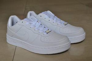 Kp3 Zapatos Nike Air Force One Blanco All White 35 Al 40