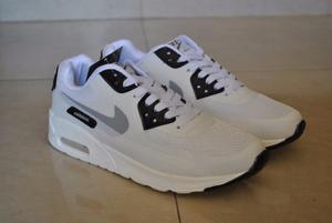 Kp3 Zapatos Nike Air Max 90 Blanco / Negro Del 40 Al 45
