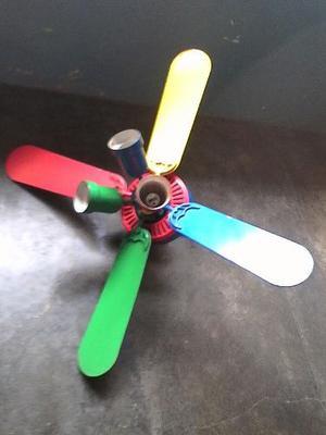 Ventilador Lámpara De Techo De Colores