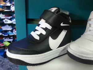 Zapatos Botines Nike Air Force One Para Niños T 22 A La 36.