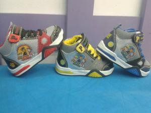 Zapatos Deportivos Con Luces Paw Patrol Para Niños