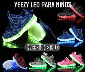 Zapatos Yeezy Boost Led Con Luces De La Talla 25 A La 42.