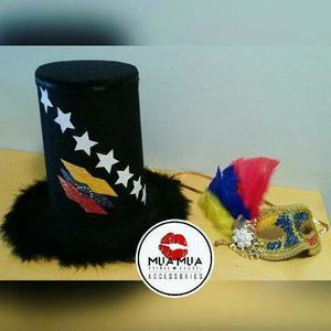 Cotillon De Lujo Para Novios. Sombrero Y Mascara. Hora Loca