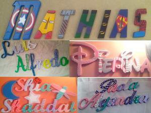 Letras,nombres En Mdf 9mm Para Colgar, Habitacion