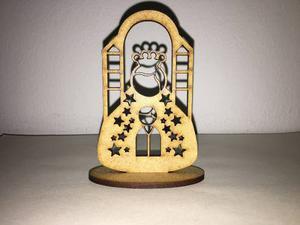 Virgenes Caladas De 9cm En Mdf Crudo De 3mm Corte Laser
