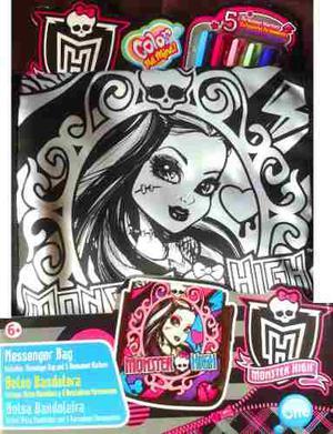 Cartera Bolso Para Colorear Monster High,barbie,princesa