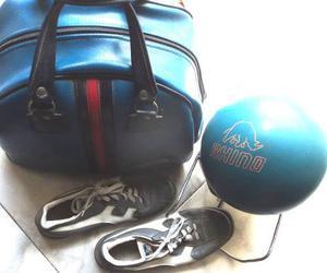Equipo De Bowling (bola, Zapatos  Y Bolso)