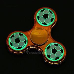 Fidget Spinner Futbol Style Dorado Brillo Oscuridad Nuevos