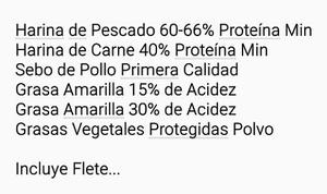 Ventas Materia Prima Para Planta De Alimentos Animal