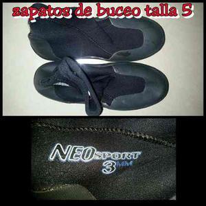 Zapatos De Buceo Marca Neosport Talla 5