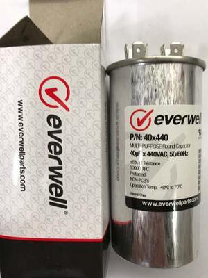 Capacitor De 40 Uf En 440 Vac Marca Everwell