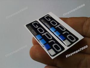 Kit De 2 Emblemas Calcomanias Gopro En Relieve Flexibles