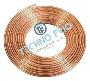 Tuberia De Cobre Flexible 1/4 Rollo mts