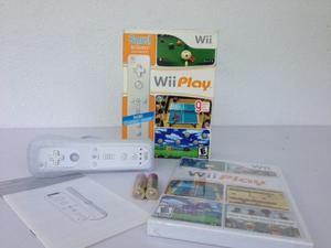 Control Wii Con Protector De Silicone Y Juego Wii Play