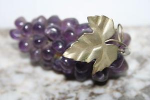 Excelente Racimo Uvas Cuarzo Amatista Violeta Antiguo Piedra