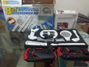 Kit De Accesorios 8en1 Para Nintendo Wii + Guantes De Boxeo