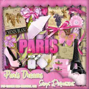 Kit Imprimible Scrapbook Paris Fondos Clipart Papel Digital