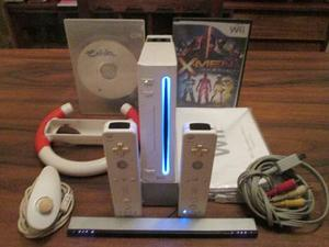 Nintendo Wii Chipeado Con Controles, Volante Y Juegos Copia