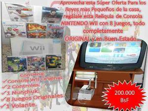 Nintendo Wii Poco Uso Totalmente Original (consolas Y Juegos