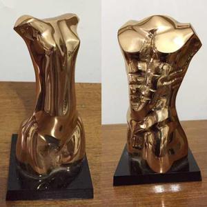 Par Esculturas De Bronce De Ji Me