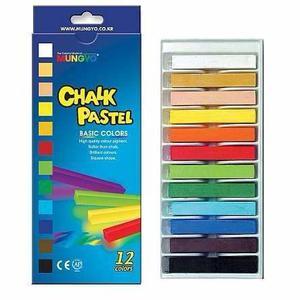Tiza Pateles Marca Mungyo 12 Colores