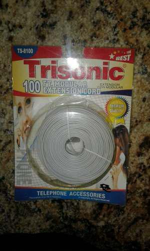 Cable Teléfono. 100 Ft. 30,5 Mts.