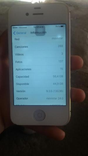 Vendo iPhone 4s Original de 64gb