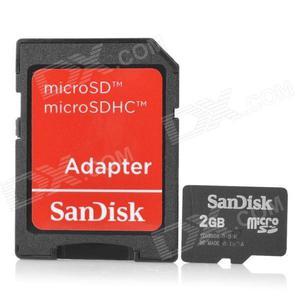 Venta de memorias micro sd sandisk 2 gb al mayor OFERTA