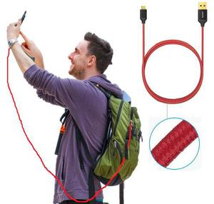 Cable Anker Micro Usb Carga Rápida Nylon 1.8mts S5 S6 S7