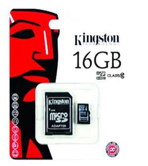Memoria Micro Sd Kingston 16gb Con Adaptador Nueva Sellada