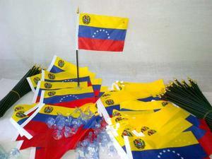Banderas De Venezuela Para Carros, Escritorios Y Virdrios