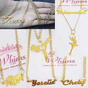 Collar Cadena Nombre Personalizado Con Baño De Oro Calidad