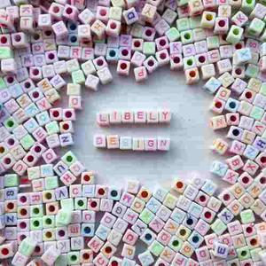 Dijes Cubos De Letras Bisutería. Abecedario Completo 26