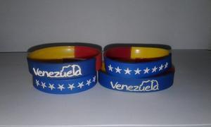 Pulseras De Silicion Tricolor, Venezuela Y Vinotinto