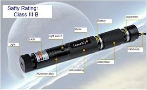 Apuntador Laser 200mw Verde Enfocable Laser'dv 301 Nuevos!