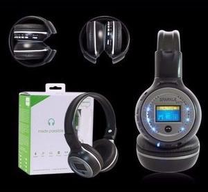 Audifonos Inalambricos Con Bluetooth, Micro Sd, Fm, 1.5 Lcd