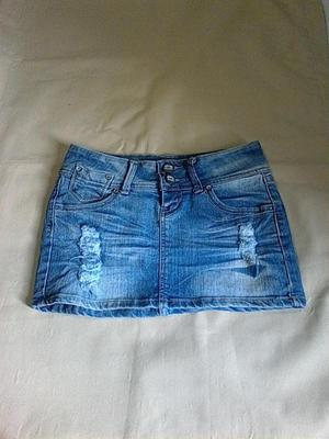 Mini Falda De Blue Jeans