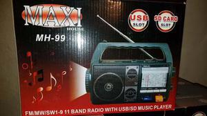 Radio Maxi House M-h 99, Usb, Sd Card Portatil.nuevo