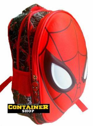 Bolso Morral Escolar Spiderman Alto Relive 3d !somos Tienda!