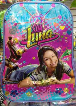 Bolsos Morral Escolar Soy Luna, Alto Relieve 3d