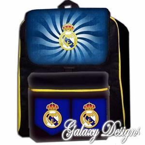 Morral Real Madrid Maleta Bolso Escolar Ronaldo Niños