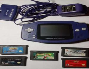 Nintendo Game Boy Advance +5 Juegos+ Cargador+forro De Viaje