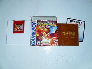 Pokemon Red Rojo Para Game Boy Original, Con Caja Y Librillo