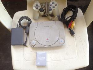 Playstation / Psone Con 1 Control Y 2 Juegos + Memory Card