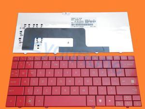 Teclado Hp Mini Series:110 Cq Rojo Ingles Remate