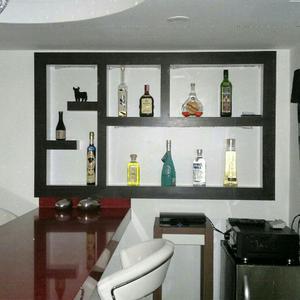 Mueble Bar Tipo Minimalista